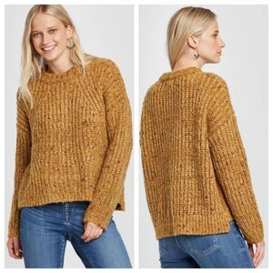 Universal Thread Chunky Yellow Pullover Sweater